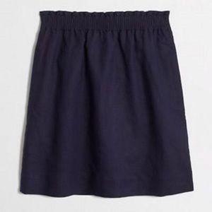 J. Crew • Navy Linen City Mini Skirt